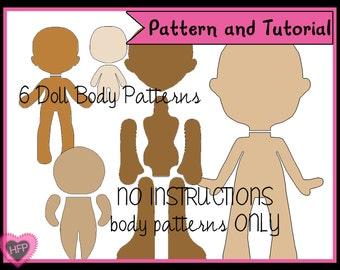 doll body pattern pdf doll pattern felt doll pattern 5 00 ...