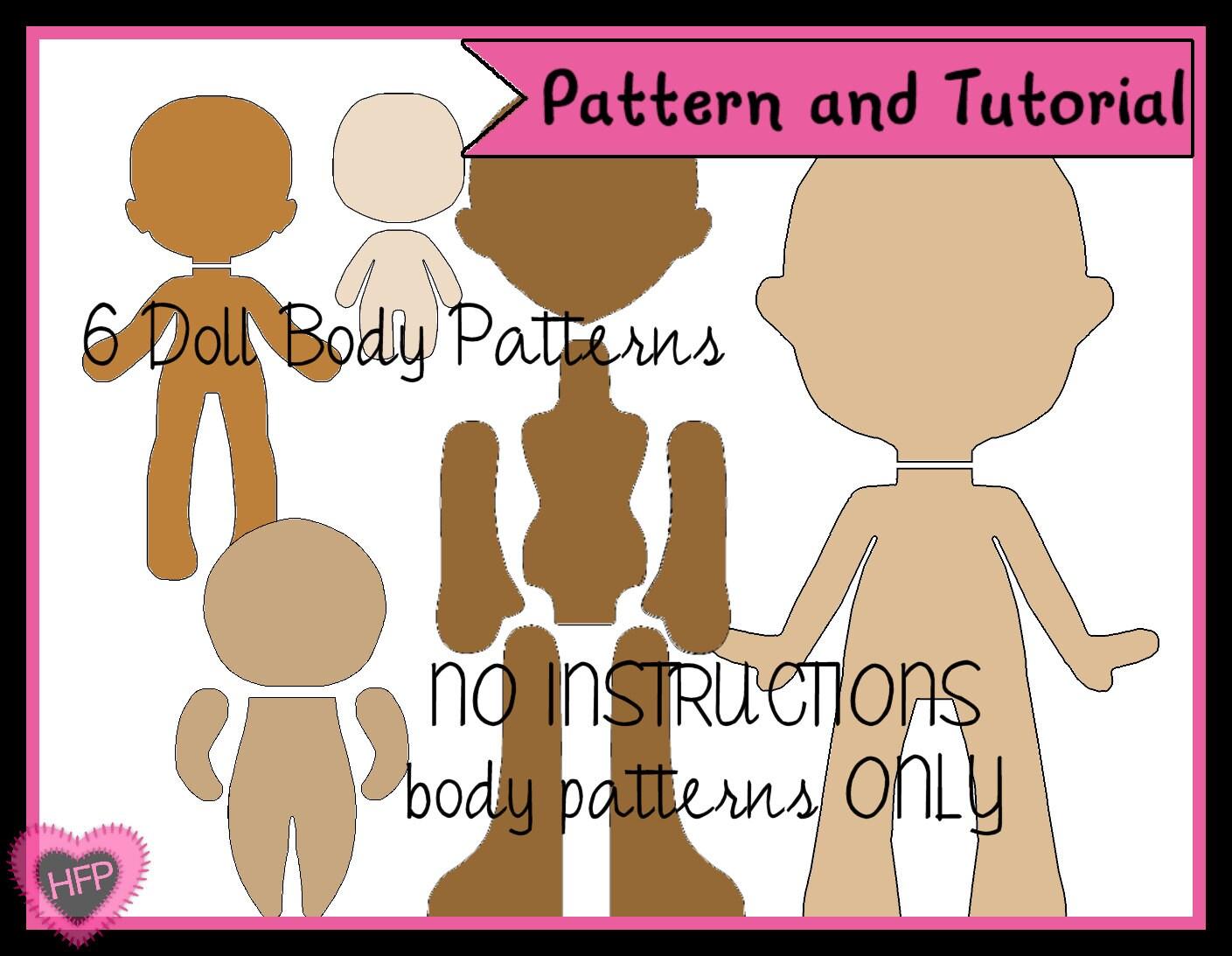 Doll Body Pattern PDF Doll Pattern Felt Doll by HeartFeltPlush
