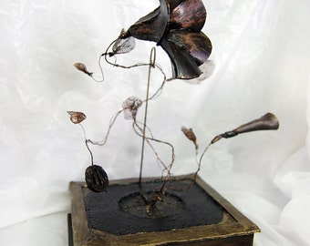 SALE! Nature of Music: Steampunk Sculpture (was 110 pounds)