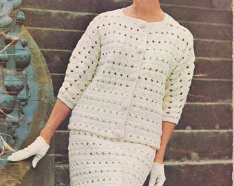 Crochet Suit Pattern Download Long Sleeve Suit Pattern Instant Download Fall Fashion Winter Fashion Digital Download DIY Crochet Patterns