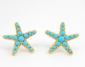 BLUE STAR Turquoise Earrings