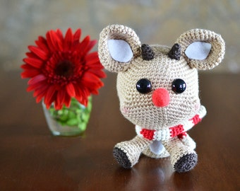 Reindeer Crochet Pattern. Rudy The Reindeer Amigurumi Crochet Pattern. Christmas Crochet Pattern. Reindeer Downloadable PDF Crochet Pattern