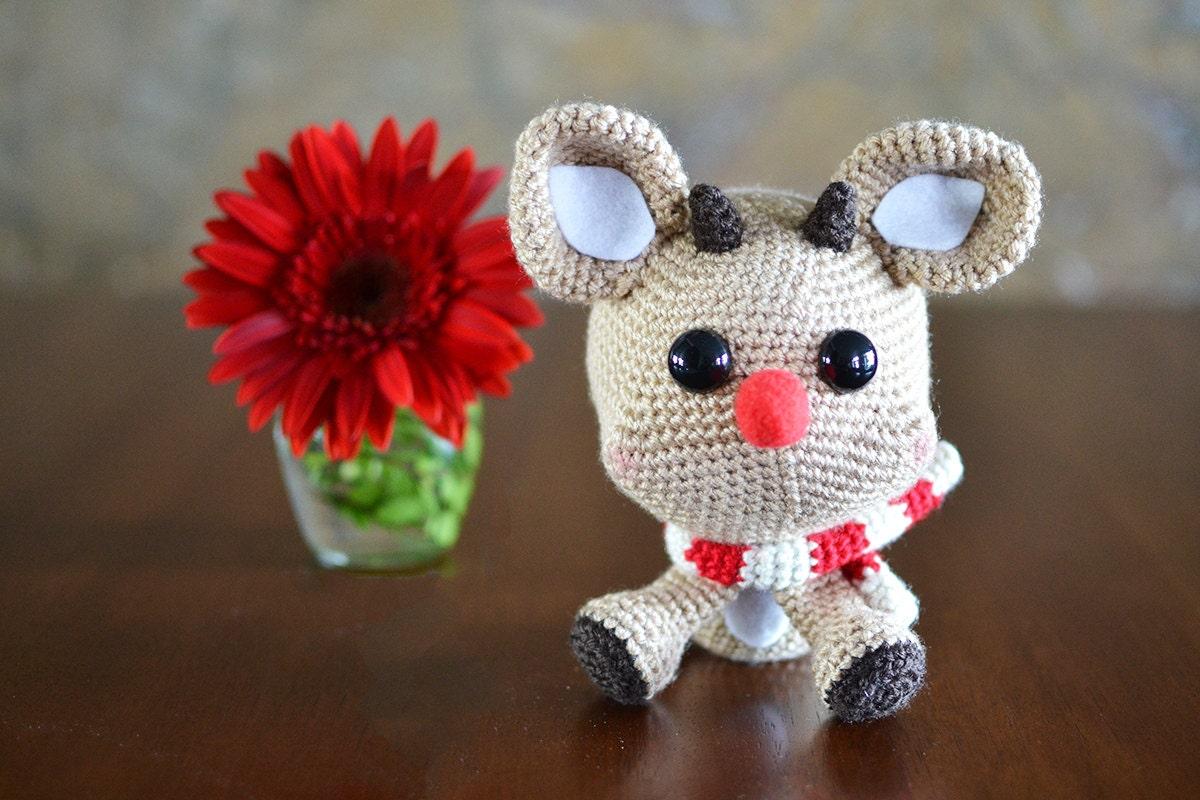 Rudy Reindeer Amigurumi : Reindeer Crochet Pattern. Rudy The Reindeer Amigurumi Crochet