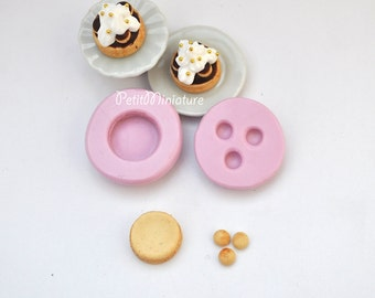 Mold Kawaii Silicone Flexible Mold Cake Saint honorè 1cm-Decoden Miniature Mold Sweets Polymer Clay Food Jewelry Cabochon Resin Push ST075