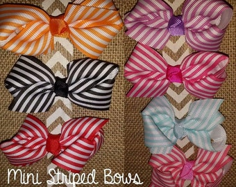 Mini Striped Bows
