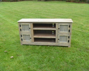 Rustic Pallet TV stand cabinet , Sideboard, reclaimed wood, shabby chic, media stand, credenza stand