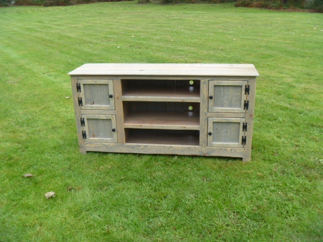 Rustic Pallet TV stand cabinet Sideboard reclaimed wood -> Wood Tv Sideboard