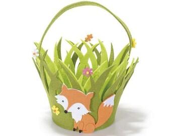 Felt Basket with Fox Candy Case