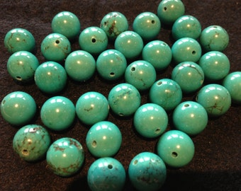 10mm Chinese Stabilized Turquoise Rounds