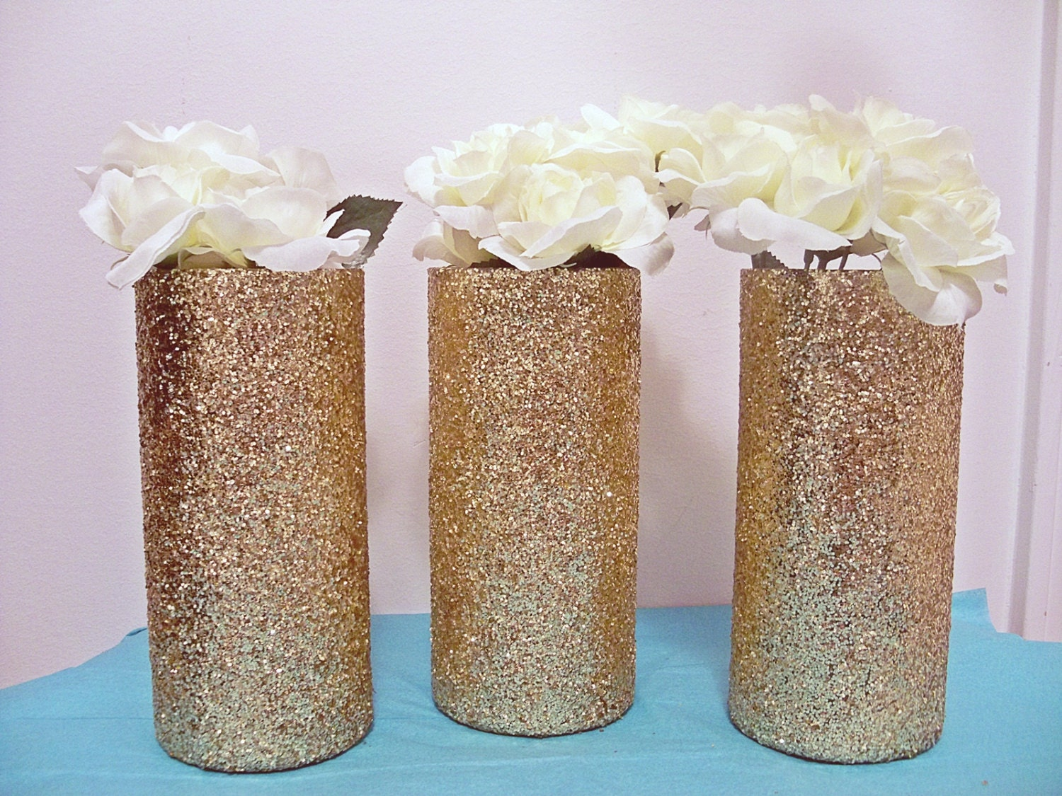 Glitter vases crafthubs gold glitter vases glass cylinder vases by reviewsmspy