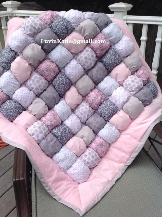 Bubble quilt puff quilt biscuit quilt custom made to order for Floor quilt for babies
