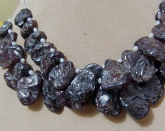2 Strands  Garnet Rough Front side rough back side smooth   Layout   beads  6''