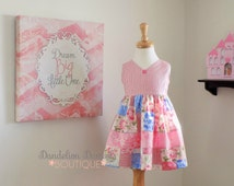 Ellie's Sweetheart Maggie Dress/Tunic with Bloomer/ Girl's Dress/ Maggie Inspired/Vintage Dress/ Toddler  Floral Tunic/ Valentine's Day