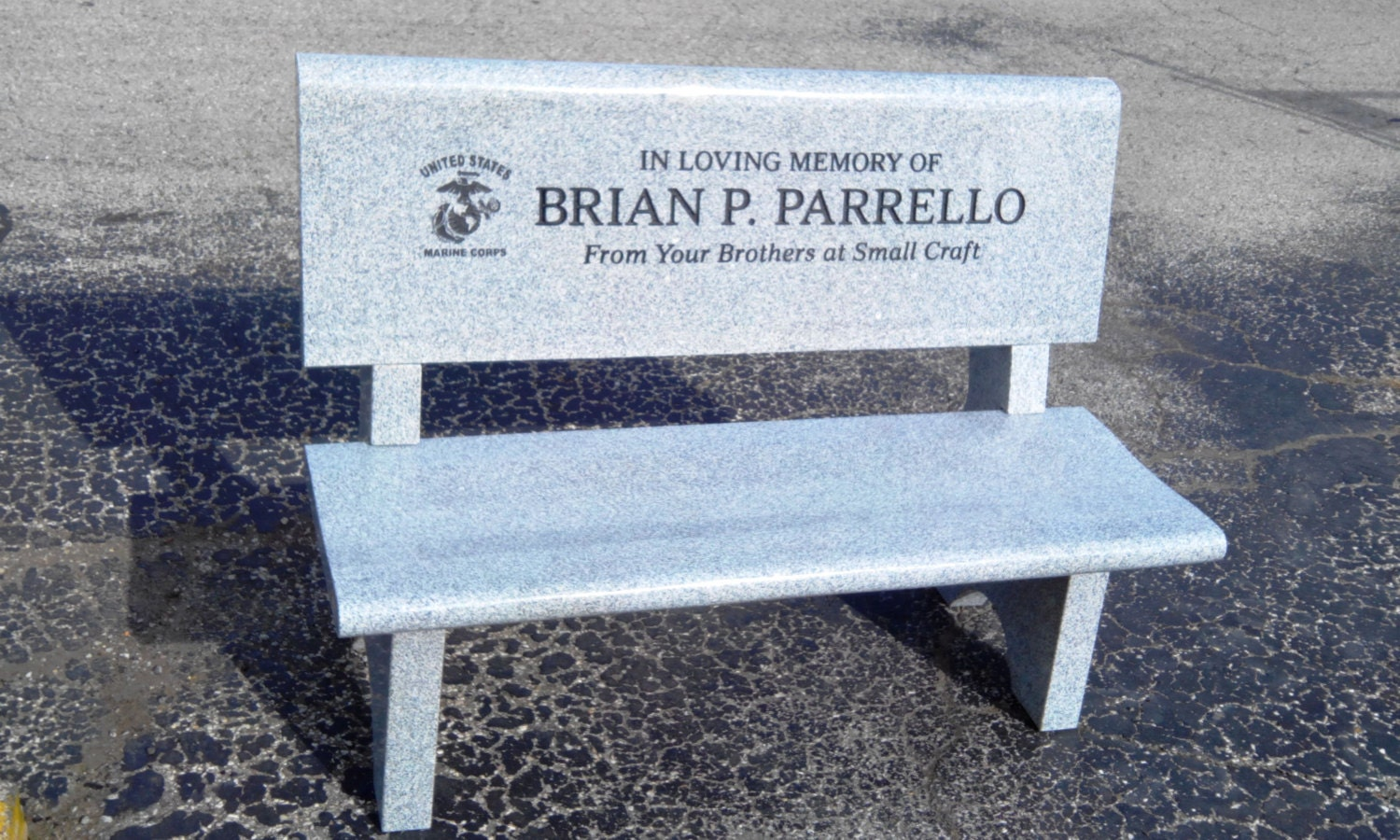Granite Memorial Park Style Bench Availble To Be