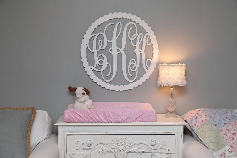 Monogrammed Wall Decor wooden monogram nursery monogram wall baby monogram wedding