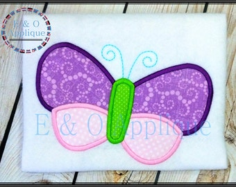 Butterfly Applique Design - Butterfly Embroidery Applique - Spring Applique Design - Spring Embroidery Design - All A Flutter Applique