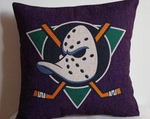 Anaheim Ducks  pillow cover, decor pillow cover with NHL Anaheim Ducks ,Anaheim Ducks  pillow