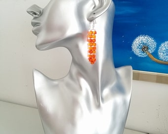 Foxy Orange Earrings