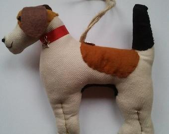 Hand made Beagle, fox hound type dog hanging decoration, decor, dog lover
