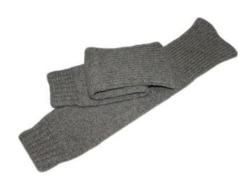 Gray Woolen Knitted Leg Warmers (dance socks, socks for aerobics) Handmade Handknit