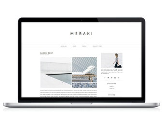 Wordpress Theme - Meraki - Responsive Wordpress Blog Design - Wordpress Template - Wordpress Theme Feminime - Wordpress Theme Modern