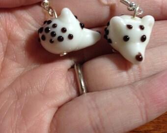 Hedgehog Lamp work Earrings
