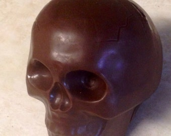 Solid White or Milk Chocolate Skull Halloween Dia De Los Muertos Day of the Dead