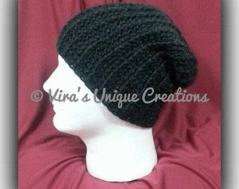 Men crochet slouchy hat, crochet men slouchy hat, crochet slouchy hat, crochet hat, crochet men hat men slouchy hat, men hat, made-to-order