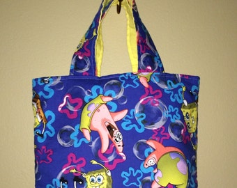 Small Tote using SpongeBob SquarePants Fabric