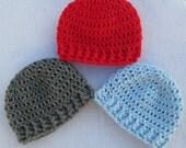 Newborn Crochet Hat, Newborn Beanie, Baby Hat, Gender Neutral Hat, Ribbed Beanie,  Newborn Hospital Hat, Baby Beanie