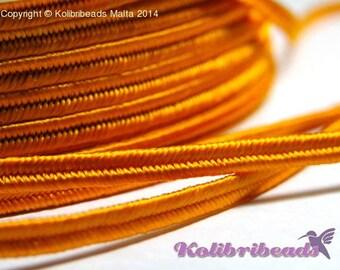 1x 3m Czech Soutache Braid 3 mm Orange