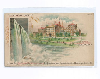 "Shredded Wheat ""Its All In The Shreds"" Postcard Niagra Falls ca 1910s Unused"