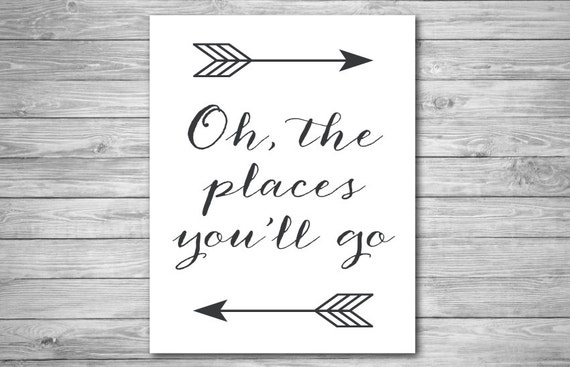 This is a photo of Exceptional Oh the Places You'll Go Arrows Printable