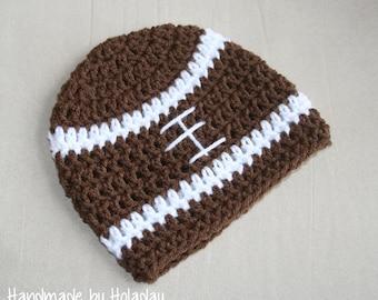 Football Hat, Crochet Football Hat, Football Beanie, Baby Football Hat, Toddler Football Hat