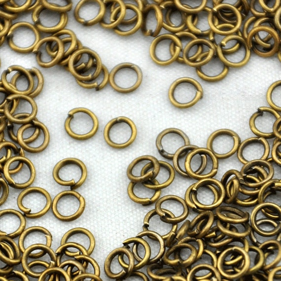 500 pcs of antique bronze jump rings 4mm 22gaugediy accessory
