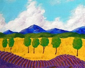 "Lavender In Provence (ORIGINAL ACRYLIC PAINTING) 8"" x 8"" by Mike Kraus"
