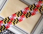 "Maryland Flag Grosgrain Ribbon 1.5"""