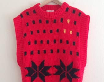 Vintage Hand Knit Sleeveless Sweater