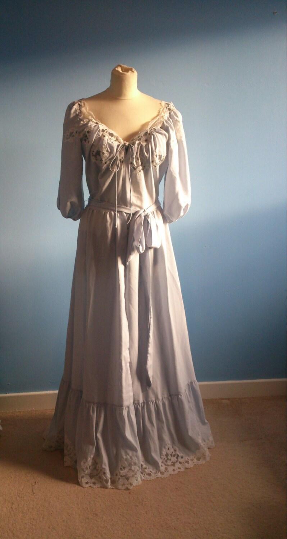 Luxury Vintage Lingerie Nightdress Janet Reger Pale Powder