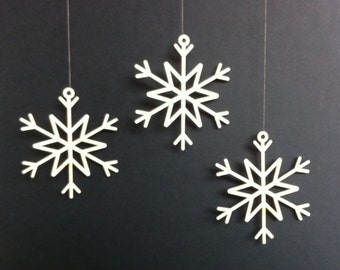 Lasercut snowflake seasonal Christmas tree decoration