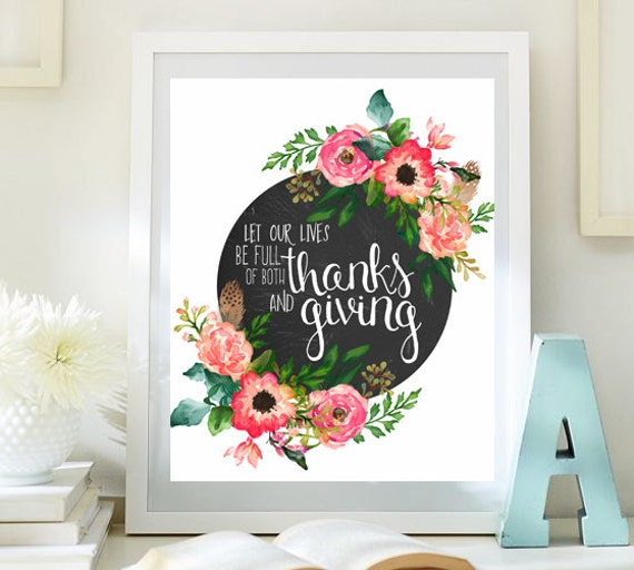 Thanksgiving Print Fall Decoration Thanksgiving Printable - fall home decor quotes