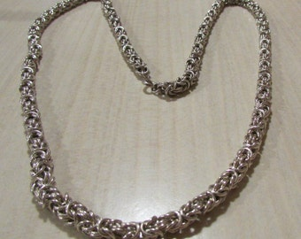 Heavy Handmade Sterling Silver Chain. 28""
