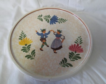 Vintage Majolica Decorative Plate Platter Cookie Plate Hand Painted