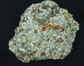 Spessartine Garnet and Smoky Quartz - Tongbei, China - Cabinet Mineral Specimen