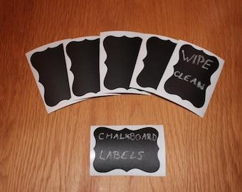 Chalkboard Vinyl Labels - Chalkboard Decals - Blackboard Stickers - Chalk/Black Board Vinyl