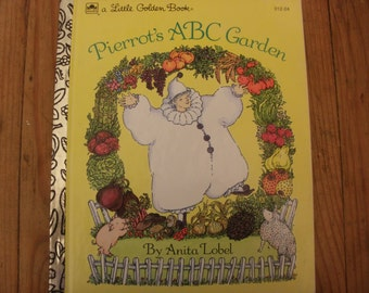 "Vintage Little Golden book, ""Pierrot's ABC Garden"", copyright 1992 Vintage Children's book"