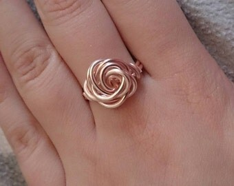 Rose Wire Ring