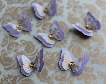 Set of Wedding Butterflies Decoration layered BUTTERFLIES /3D Bridal Shower Butterfly/Party Decoration/Baby/Showers Birthday Party
