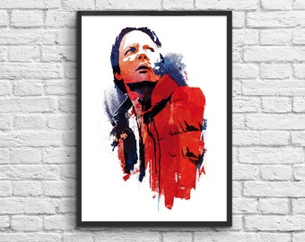 Art-Poster 50 x 70 cm - Marty McFly  - Back to the future