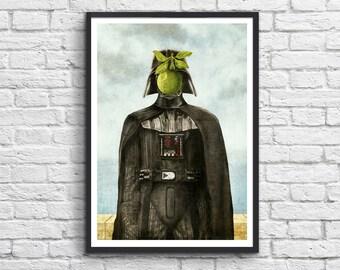 Affiche Art-Poster 50 x 70 cm - Dark Vador vs Magritte